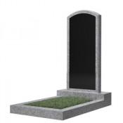 Памятник фигурный эконом Ф-18 Чёрно-серый (1000*450*50 мм)