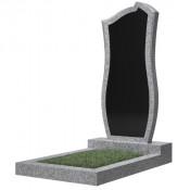 Памятник фигурный эконом Ф-41 Чёрно-серый (1000*450*50 мм)