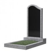 Памятник фигурный эконом Ф-14 Чёрно-серый (1000*500*50 мм)