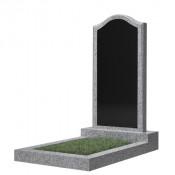 Памятник фигурный эконом Ф-22 Чёрно-серый (1000*500*50 мм)