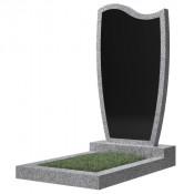 Памятник фигурный эконом Ф-42 Чёрно-серый (1000*500*50 мм)