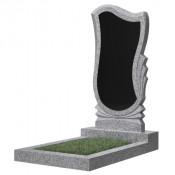 Памятник фигурный эконом Ф-56 Чёрно-серый (1000*500*50 мм)