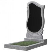 Памятник фигурный эконом Ф-58 Чёрно-серый (1000*500*50 мм)