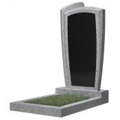 Памятник фигурный эконом Ф-81 Чёрно-серый (1000*500*50 мм)