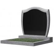 Памятник семейный эконом С-46 Чёрно-серый (700*900*50 мм)