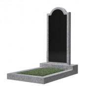 Памятник фигурный эконом Ф-10 Чёрно-серый (1000*450*50 мм)