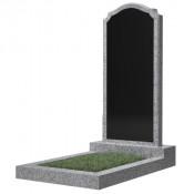 Памятник фигурный эконом Ф-11 Чёрно-серый (1000*450*50 мм)
