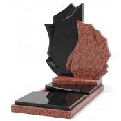 Памятник эксклюзивный ЭК-2 Чёрный/Красный (1510*800 мм)