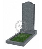 Памятник фигурный эконом Ф-10 Тёмно-серый (1000*450*50 мм)