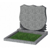 Памятник семейный эконом С-86 Светло-серый (700*900*50 мм)