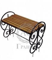 Лавка ритуальная ковка дерево 11
