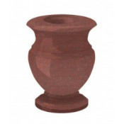 Гранитная ваза (красная) №20