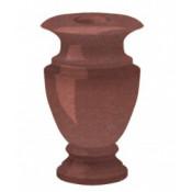 Гранитная ваза (красная) №25
