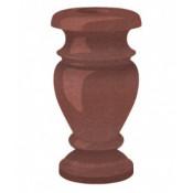 Гранитная ваза (красная) №30