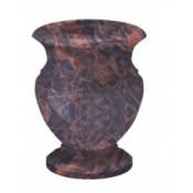 Гранитная ваза (коричневая) №20