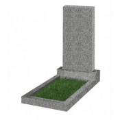 Памятник прямоугольный К-4 Светло-серый (1000*500*50 мм)