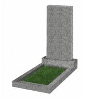 Памятник прямоугольный К-2 Светло-серый (800*400*50 мм)
