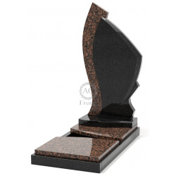 Памятник эксклюзивный ЭК-10 Чёрный/Коричневый (1390*650 мм)