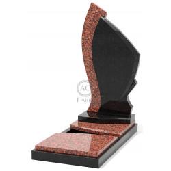 Памятник эксклюзивный ЭК-10 Чёрный/Красный (1390*650 мм)