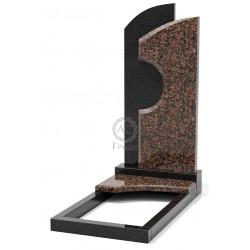 Памятник эксклюзивный ЭК-10 А Чёрный/Коричневый (1350*650 мм)