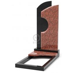 Памятник эксклюзивный ЭК-10 А Чёрный/Красный (1350*650 мм)