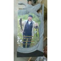 Памятник охотнику. Цветное нанесение портрета 3D