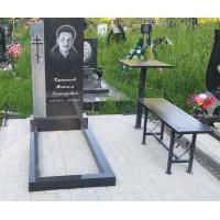 Памятник резной (Карельский гранит) Размер стелы 1200*600*70 мм