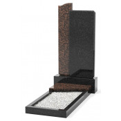 Памятник эксклюзивный ЭК-3 Чёрный/Коричневый (1400*700 мм)