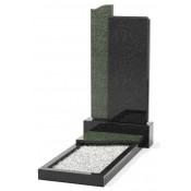 Памятник эксклюзивный ЭК-3 Чёрный/Зелёный (1400*700 мм)