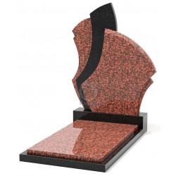 Памятник эксклюзивный ЭК-6 Чёрный/Красный (1400*650 мм)