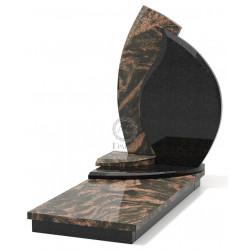 Памятник эксклюзивный ЭК-4 Чёрный/Коричневый (1380*650 мм)