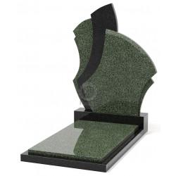 Памятник эксклюзивный ЭК-6 Чёрный/Зелёный (1400*650 мм)