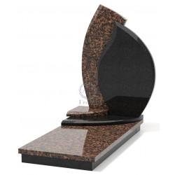 Памятник эксклюзивный ЭК-4 Коричневый/Чёрный (1380*650 мм)