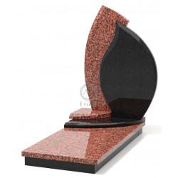 Памятник эксклюзивный ЭК-4 Чёрный/Красный (1380*650 мм)