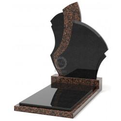 Памятник эксклюзивный ЭК-6 Чёрный/Коричневый (1400*650 мм)