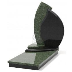 Памятник эксклюзивный ЭК-4 Чёрный/Зелёный (1380*650 мм)