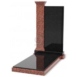Памятник эксклюзивный ЭК-7 Чёрный/Красный (1370*660 мм)