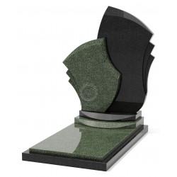 Памятник эксклюзивный ЭК-9 Чёрный/Зелёный (1410*800 мм)