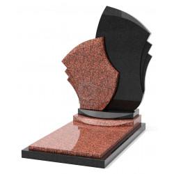 Памятник эксклюзивный ЭК-9 Чёрный/Красный (1410*800 мм)