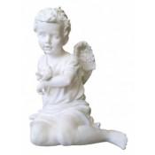 Скульптура из литьевого мрамора 5 - Ангел с воробышком