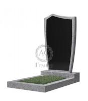 Памятник фигурный эконом Ф-29 Чёрно-серый (1000*500*50 мм)