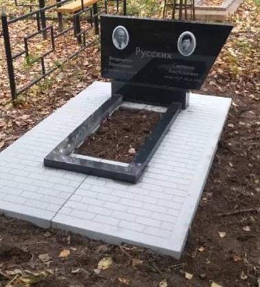Монолитная бетонная установочная плита на могилу