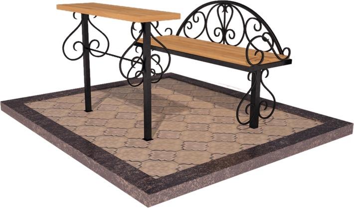 Металлические вазы столы и лавки для благоустройства мест захоронения